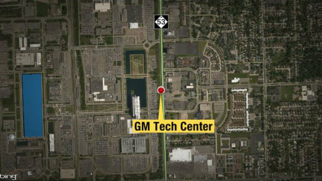 GM Tech center map
