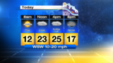 Very chilly start with snow showers later today