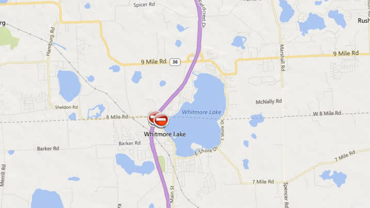 Us 23 At Washtenaw Livingston Border Reopened After Crash - Us-23-map