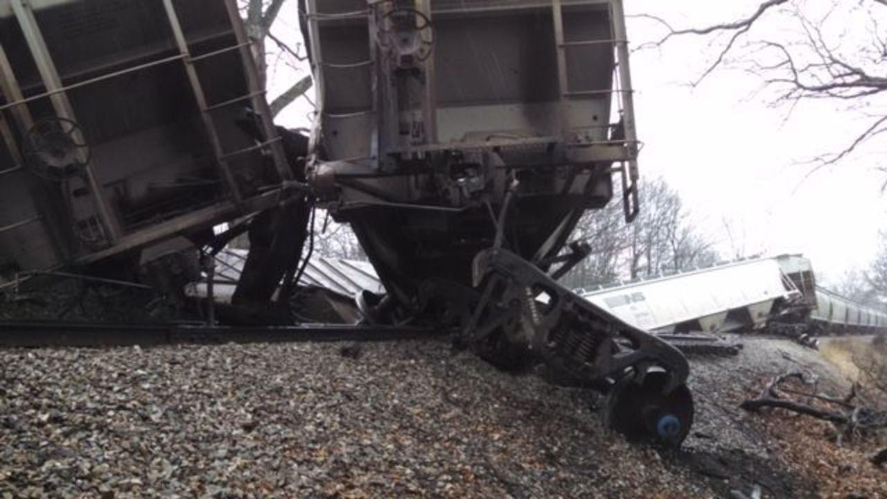 Broken Track Blamed For Freight Train Derailment In Howell