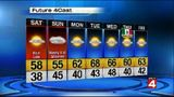 Partly sunny, cool Saturday followed by rain