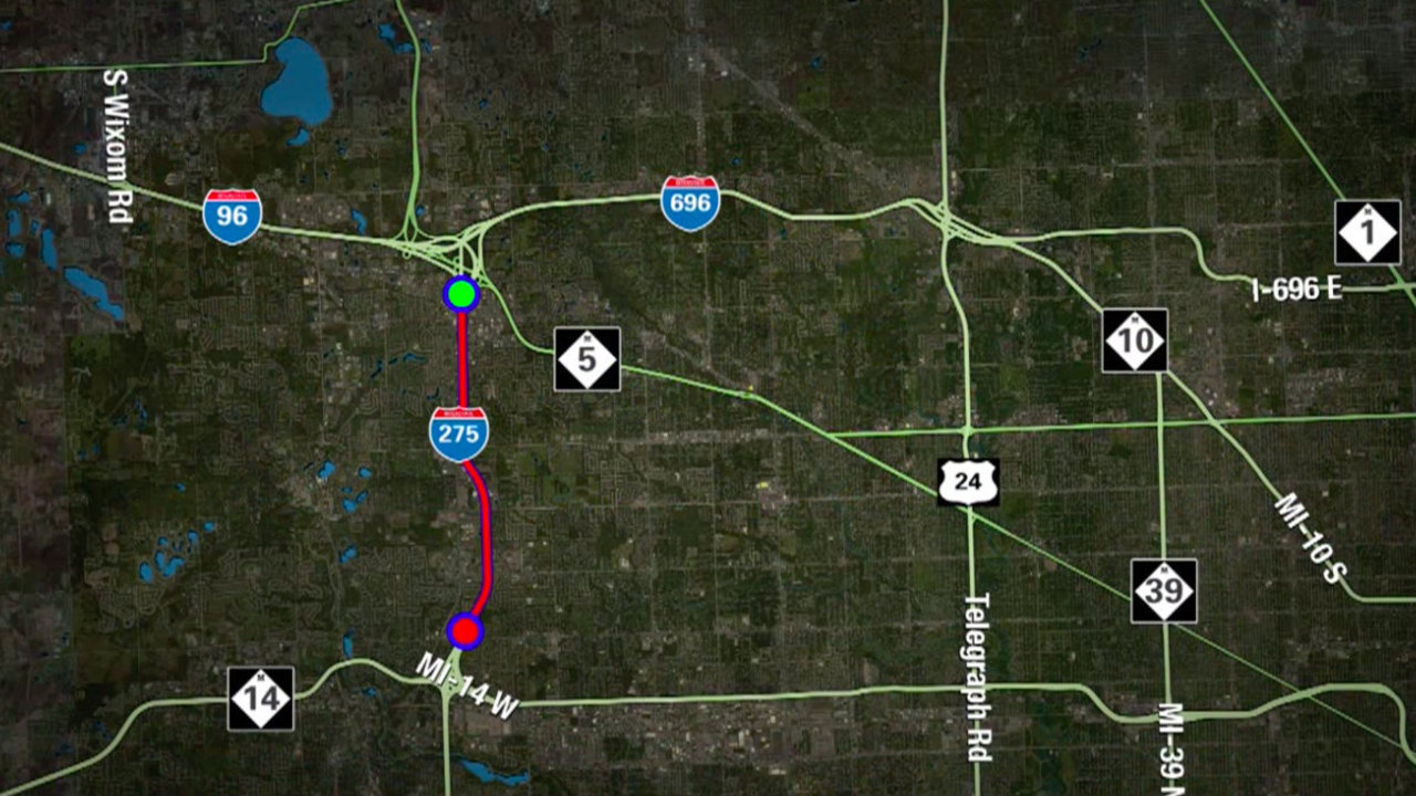 Southbound I-275 closure in effect