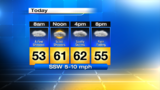 Warmer Wednesday with rounds of rain