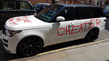 Woman gets revenge on cheating spouse by spray-painting his Range Rover