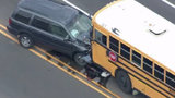 School bus invovled in head-on crash on 15 Mile at Dequindre in Sterling Heights
