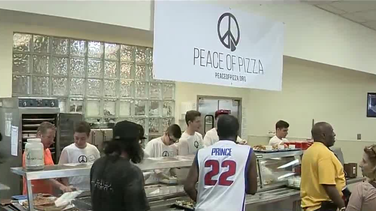 peace of pizza feeds homeless at capuchin soup kitchen