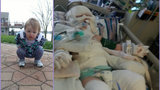 Pontiac family has warning for others after toddler falls into bonfire pit