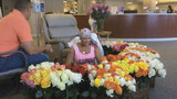 Watch husband surprise wife with 500 roses during chemo treatment