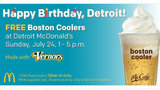 McDonald's to celebrate Detroit's birthday with free Boston Coolers