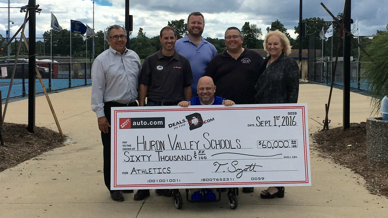 szott auto group donates 60 000 to huron valley schools. Black Bedroom Furniture Sets. Home Design Ideas