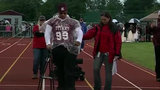 Teen walks for first time in more than year after suffering huge setback