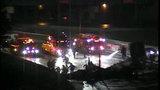 NB I-75 at I-96 closed due to fiery semi crash