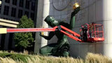 'Spirit of Detroit' statue freshens up thanks to restoration artist