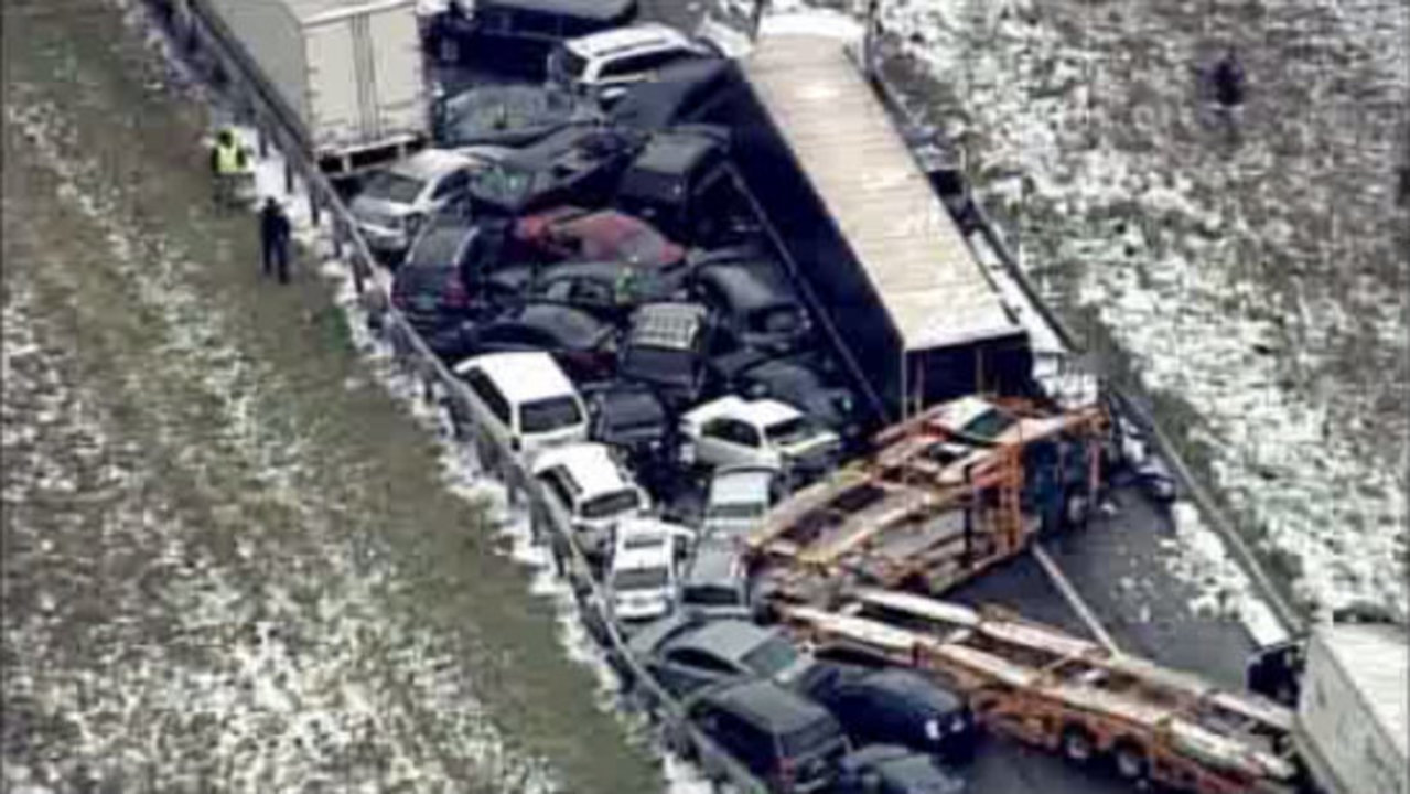 Michigan State Police: Whiteout conditions likely cause of fatal pileup on I-96
