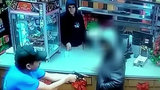 Clerk pulls gun on would-be donation jar thief