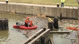 Dearborn officials rescue 2 dogs stuck on Dix water bridge