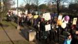 Protesters march on Wayne State campus as women march on Washington