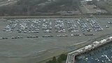 Thousands of Volkswagens parked outside Pontiac Silverdome
