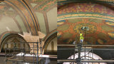 Fisher Building Arcade ceilings to be painted as they were 100 years ago