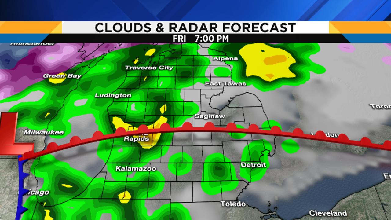 Metro Detroit Weather Forecast Updating Fridays Severe - Map of united states weather forecast