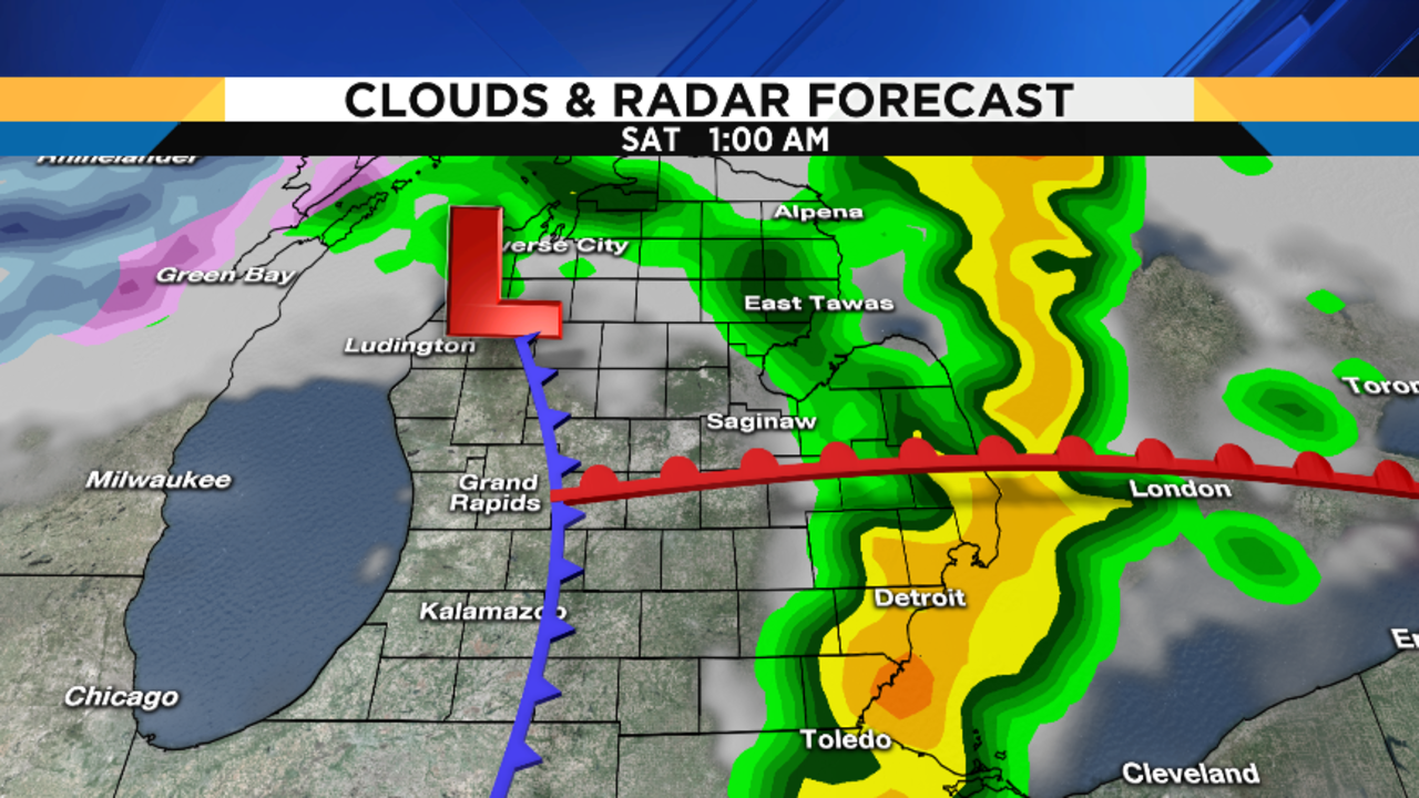 the thursday night rain and thunderstorms should end by midtolate morningfriday as a warm front advances northward across the area. metro detroit weather forecast updating friday's severe