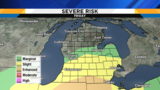 Metro Detroit weather forecast:  Updating Friday's severe storm risk