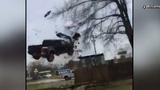 VIDEO: High speed chase ends after airborne crash