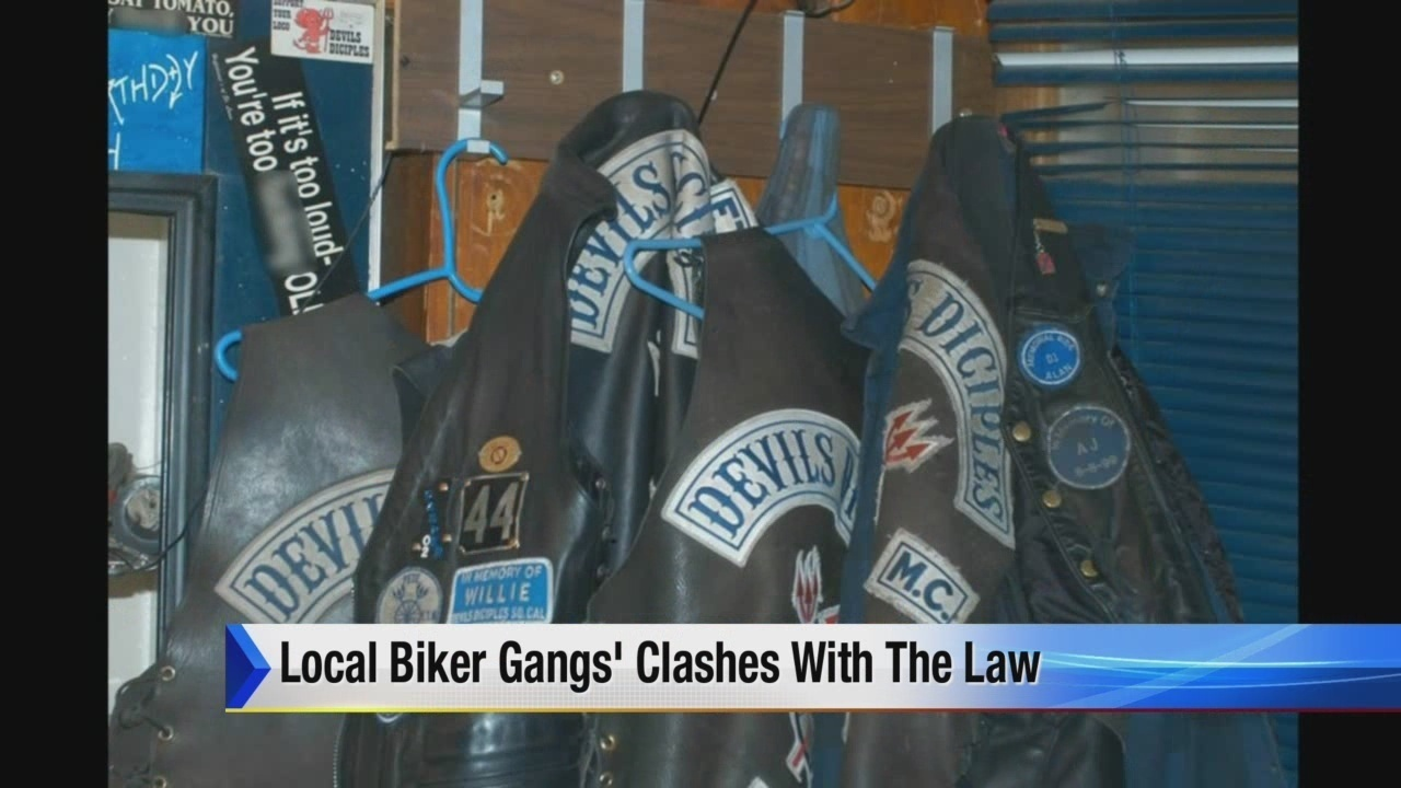 Local biker gangs clash with law