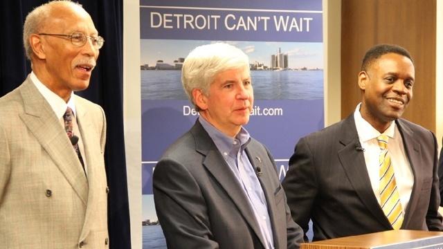 Detroit Mayor Dave Bing Gov Rick Snyder EFM Kevyn Orr_19319718