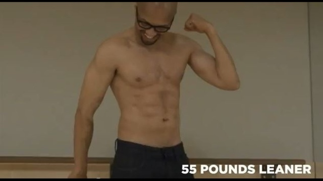 Charles Pugh 55 pounds lighter