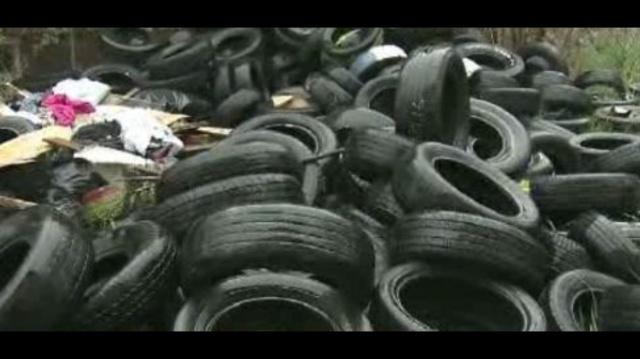 Detroit trash pile