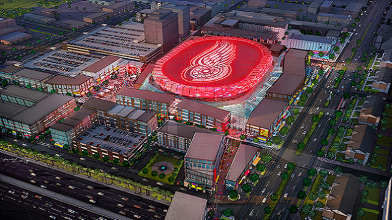 Ilitch Organization Releases Plans For New Red Wings Arena