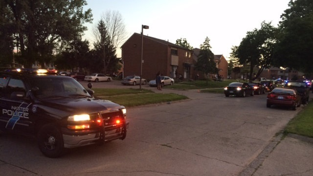 Inkster shooting scene