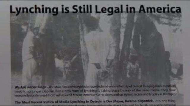 Lynching is still legal in America ad