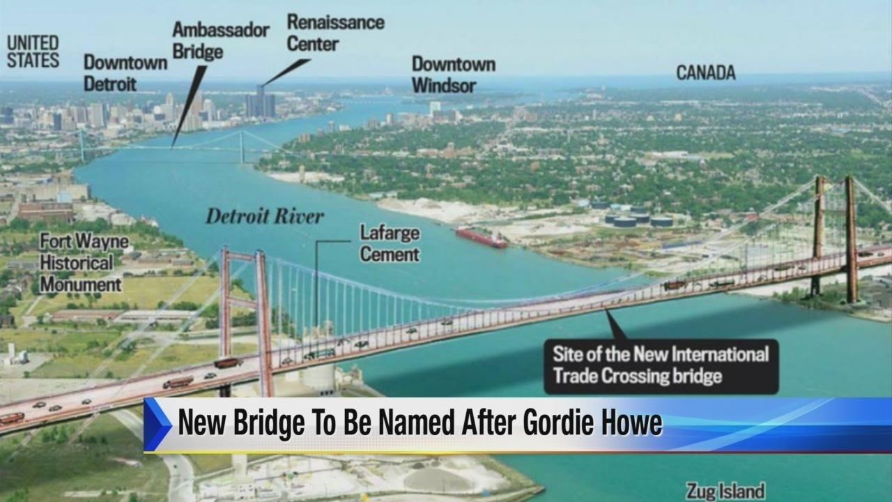 New Detroit Canada Bridge To Be Named Gordie Howe