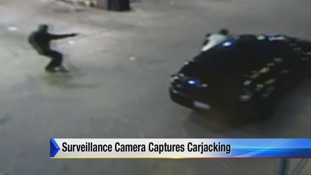 carjacking at detroit gas station caught on tape