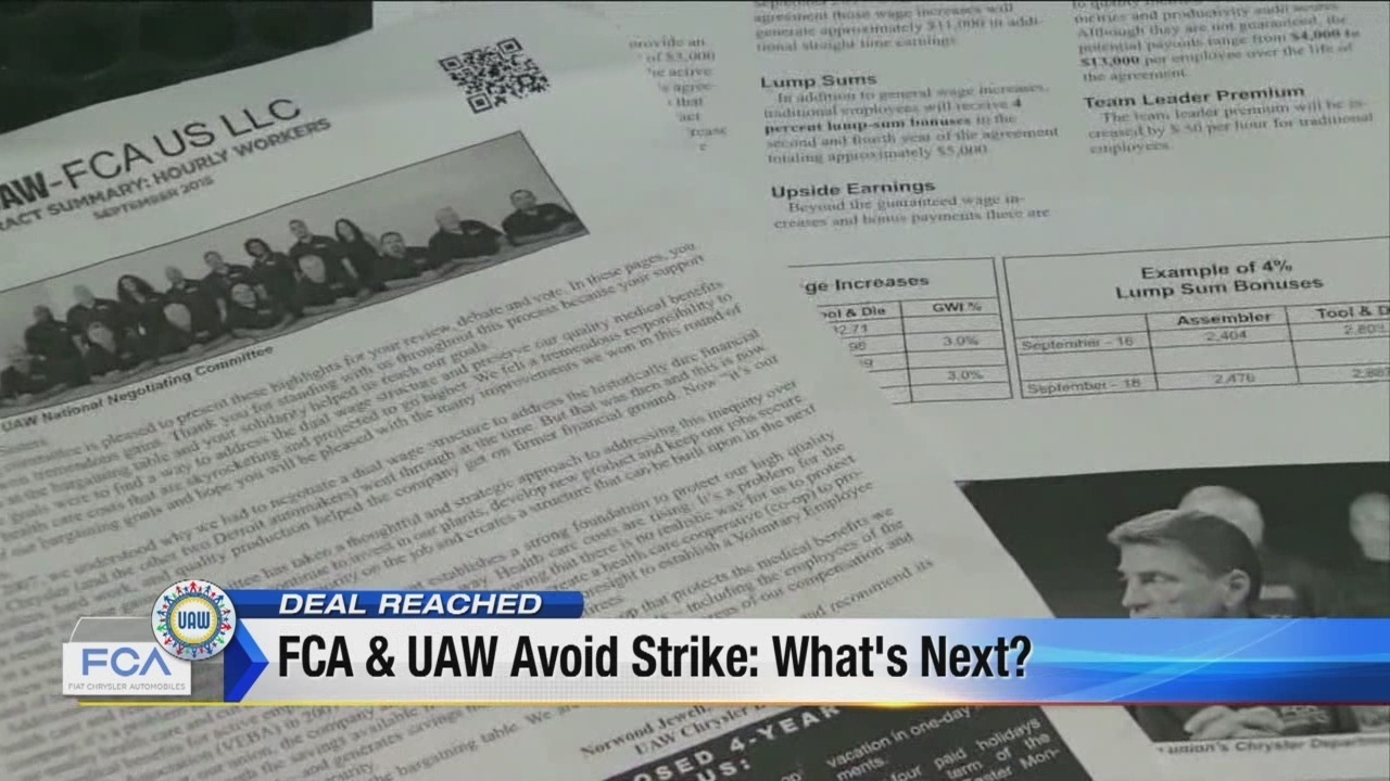 Uaw Fca Reaches Tentative Agreement On New Contract