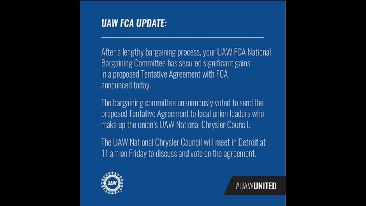 Full Statement From The Uaw On The Proposed Contract With Fca
