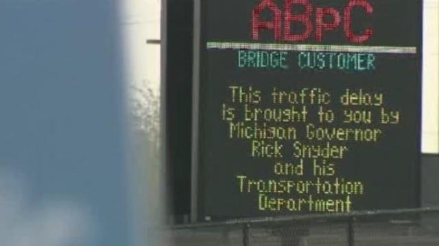 Ambassador bridge sign