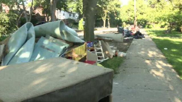 Flood items on curb Huntington Woods 1