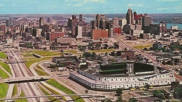 Former Tigers Stadium in Detroit