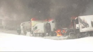 1 killed, 16 injured in 193-car pileup on I-94 west of Battle