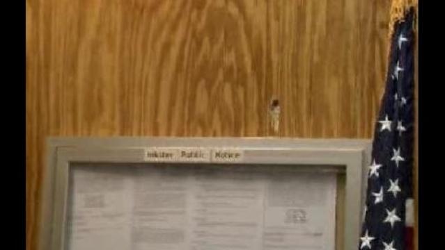 Bullet hole inside Inkster Police Department
