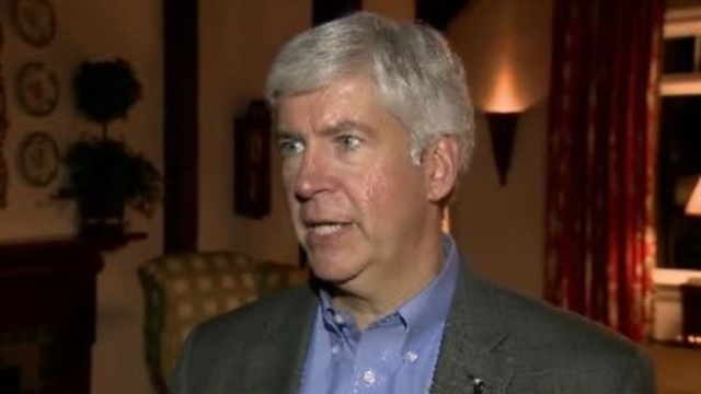 Michigan Governor Rick Snyder on Detroit EM_18506074