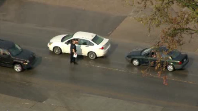 Police FBI stop cars in Armada