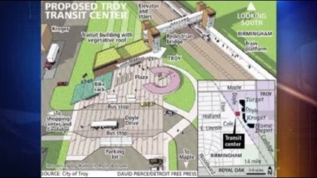 Proposed Troy transit center