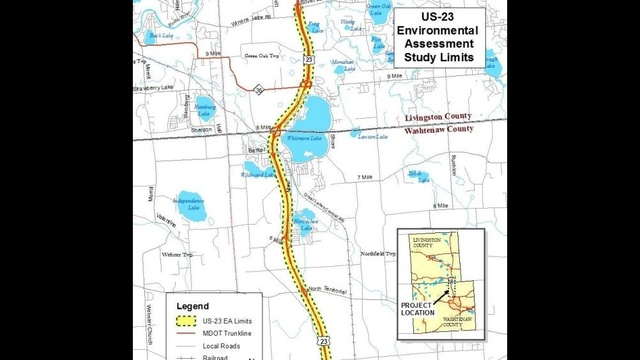MDOT Plan To Ease Congestion In Ann Arbor Brighton Area Would - Us 23 map