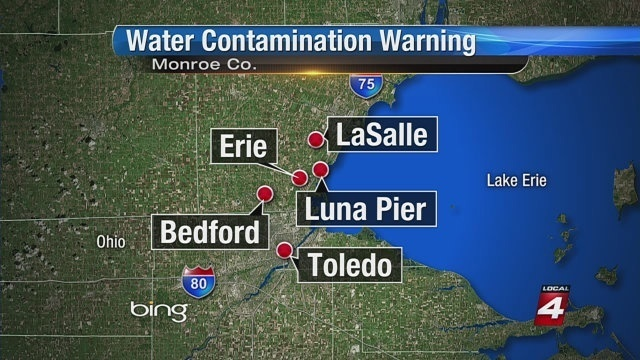 Water contamination locations