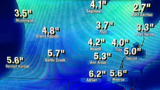 Wednesday PM snow forecast