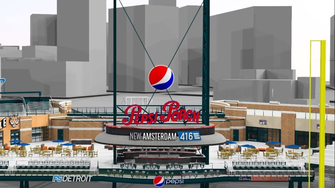 Tigers Unveil Plans For Right Field Renovation At Comerica